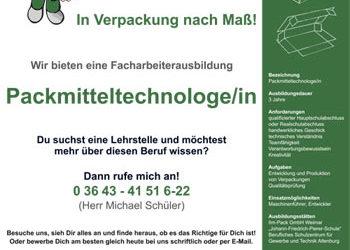 Ausbildungsplätze zum Packmitteltechnologen